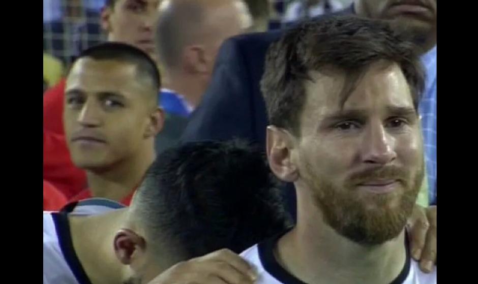 El llanto de Messi al perder la Copa América fue relacionado con el final del discurso del Presidente. (Foto: @Twitter/@DiaZeissig)