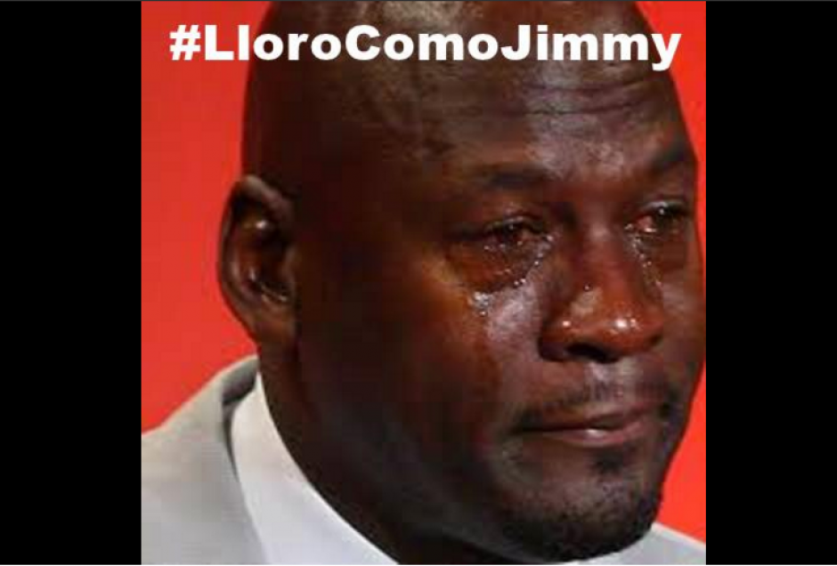 #LloroComoJimmy fue tendencia en varias horas. (Foto: @Twitter/@MLePresident_)