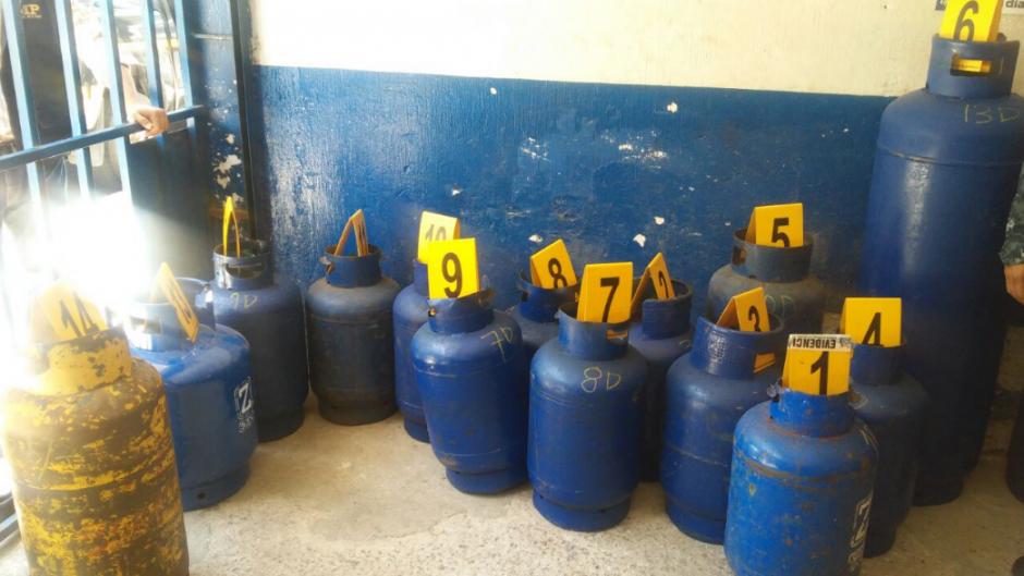 El MP decomisó un total de 21 cilindros de gas propano. (Foto: MP)