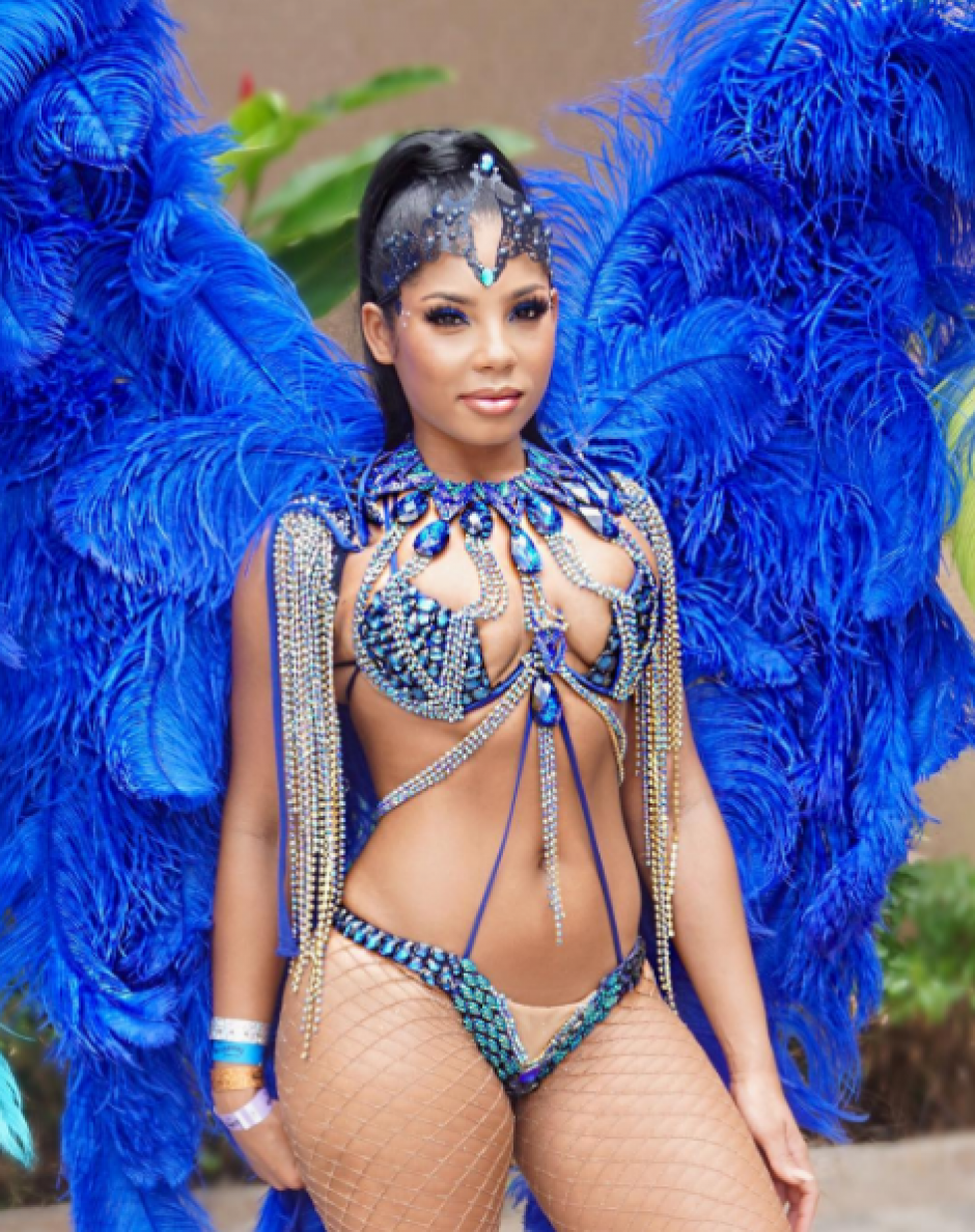 Bennett es modelo en carnavales del Caribe. (Foto: Instagram)