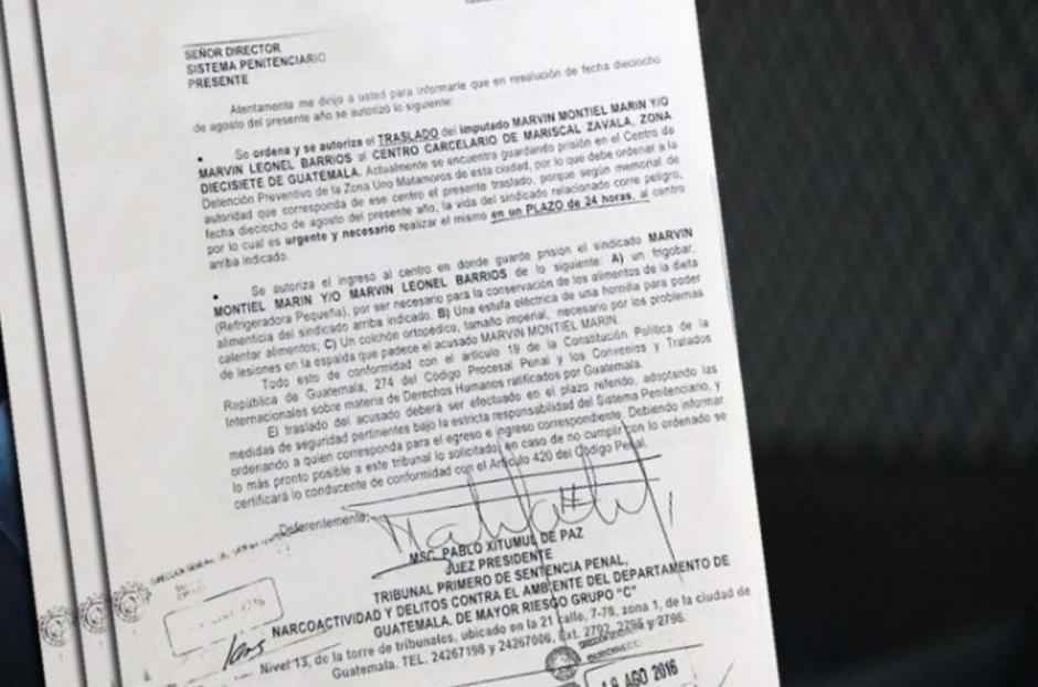 """El Juez ordenó el traslado de """"El Taquero"""" y lo considera """"urgente y necesario"""". (Foto: MInisterio de Gobernación)"""