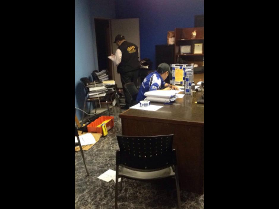 Fiscales contra la Corrupción allanaron las oficinas. (Foto: MP)