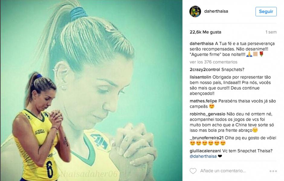 En Instagram, Thaisa tiene más de 324 mil seguidores en todo el mundo. (Foto: Instagram Thaisa Daher Pallesi)