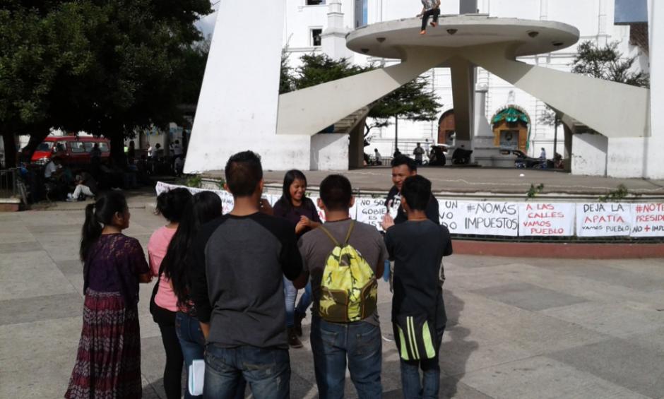 Uno de los municipios que se unió a la manifestación fue Cobán, Alta Verapaz. (Foto: Twitter, Noticias La Masa)