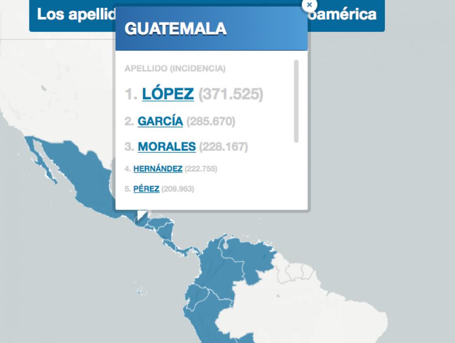 Estos son los principales apellidos más comunes de Guatemala. (Foto: El País)