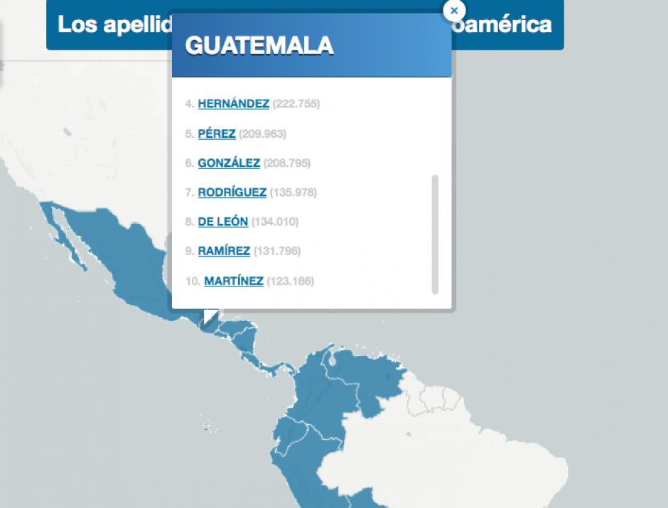 El listado incluye 10 apellidos más comunes en el país. (Foto: El País)