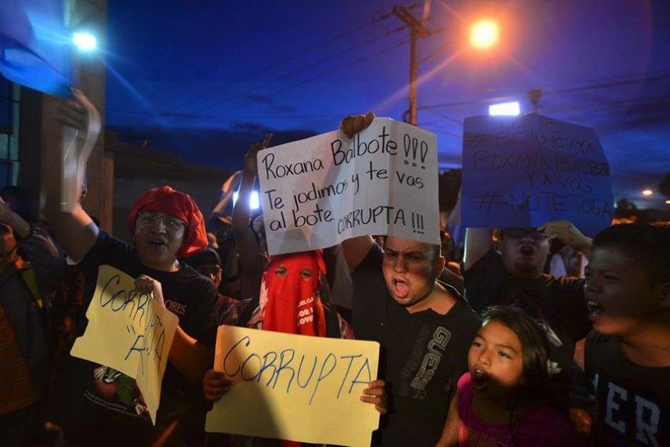 En Matamoros los ciudadanos pedían otra cárcel para Baldetti. (Foto: Archivo/Soy502)