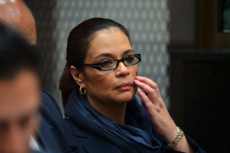 """Así lucía Baldetti en tribunales durante las audiencias de """"La Línea"""". (Foto: Archivo/Soy502)"""