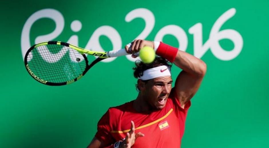 El tenista español Rafael Nadal lo dio todo ante el japonés Kei Nishikori. (Foto: EFE)