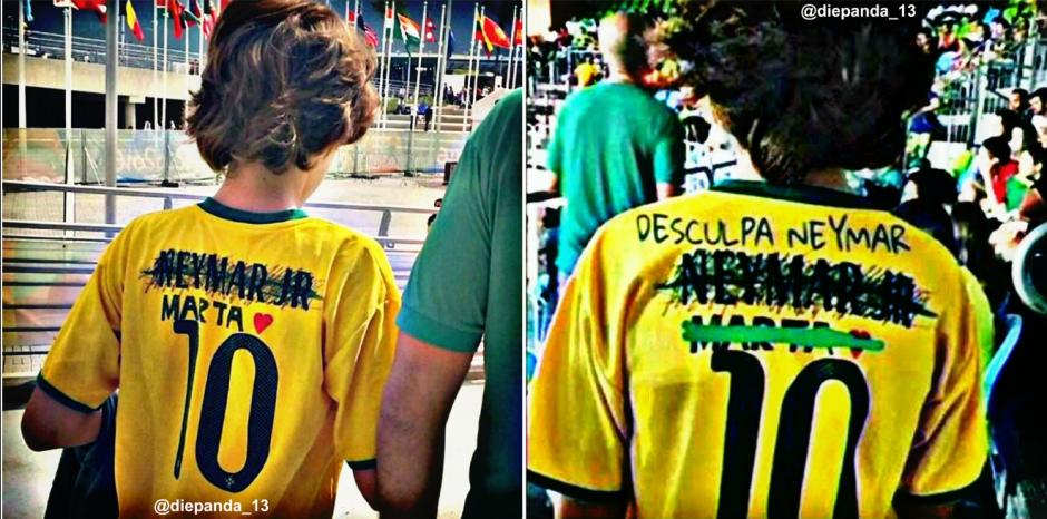 """""""Disculpas Neymar"""", el meme que circuló en las redes tras el oro (Foto: Twitter)"""