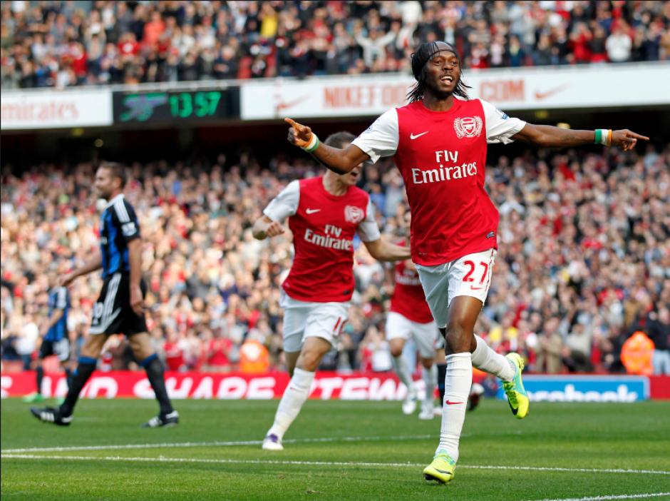 Gervinho, durante su etapa con el Arsenal (Foto: Talksport.com)