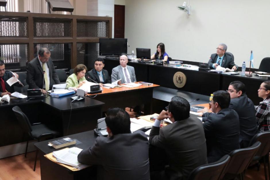 En el Juzgado B de Mayor Riesgo se llevó a cabo la audiencia de ofrecimiento de prueba previa al debate oral. (Foto: Alejandro Balán/Soy502)
