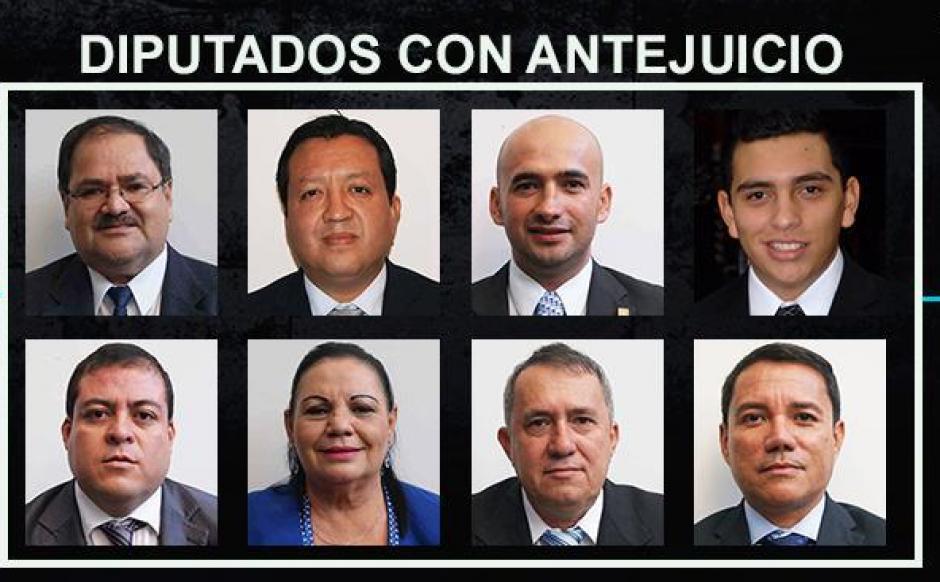 Los ocho diputados a quienes el MP presentó antejuicio por el caso de la gobernadora de Alta Verapaz. (Foto: Soy502)