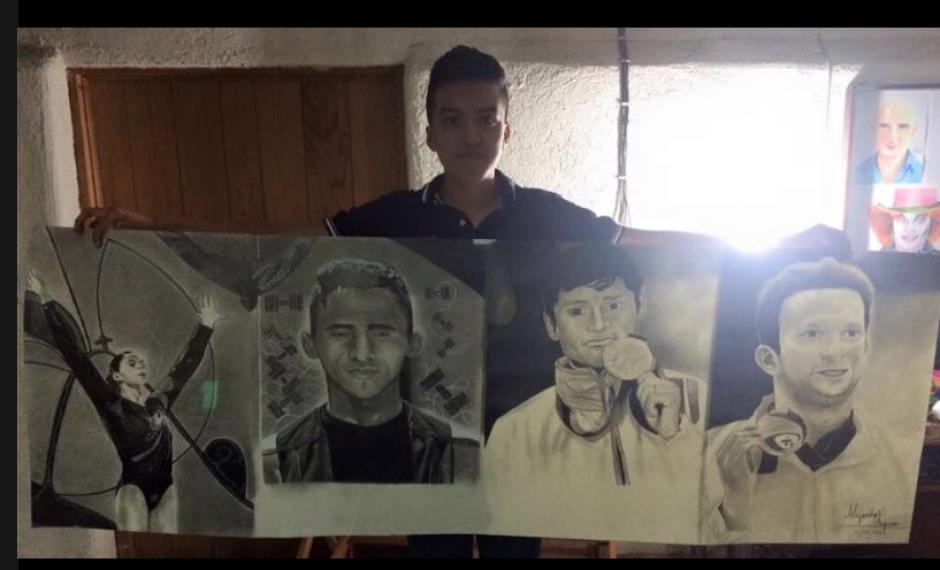 El adolescente Alejandro Requena tiene 10 años de dibujar con esa técnica. (Foto: Facebook/Alejandro Requena)