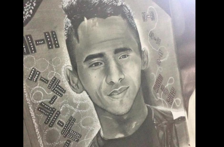 El guatemalteco Edgar Pineda fue dibujado por el artista. (Foto: Facebook/Alejandro Requena)