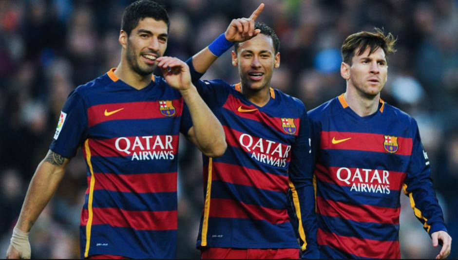 """Solo falta Luis Suárez para que la """"MSN"""" tenga el pelo rubio. (Foto: Sport.es)"""
