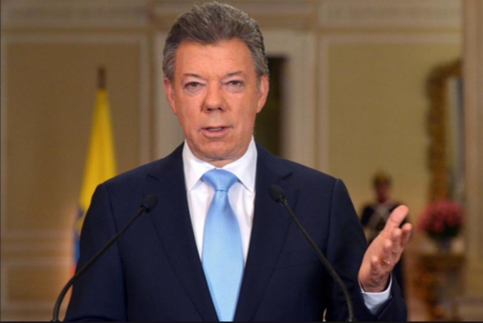 El presidente Juan Manuel Santos se congratuló por el acuerdo. (Foto: tiempo.hn)
