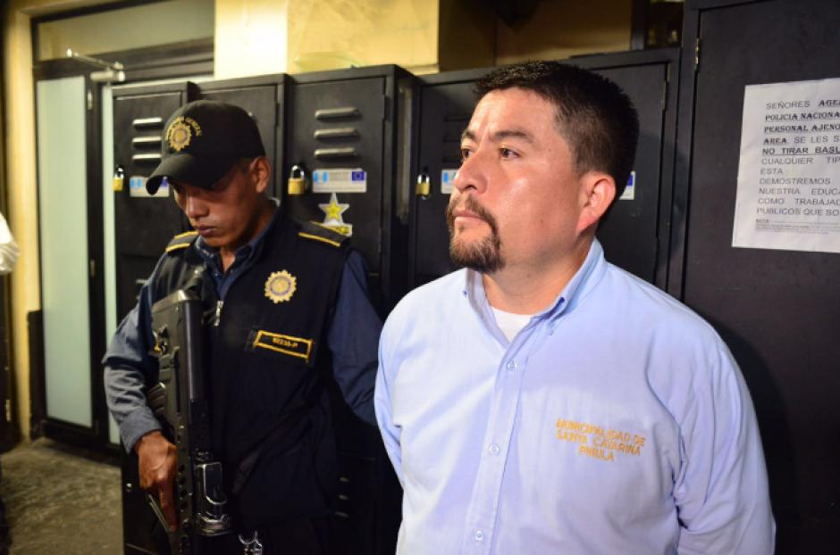 El alcalde de Santa Catarina Pinula fue capturado este 25 de agosto por las fuerzas de seguridad. (Foto: Jesús Alfonso/Soy502)