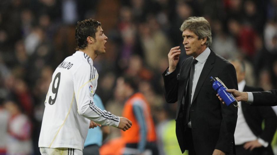 Pellegrini, durante su única temporada en el Madrid, con CR9. (Foto: AS.com)