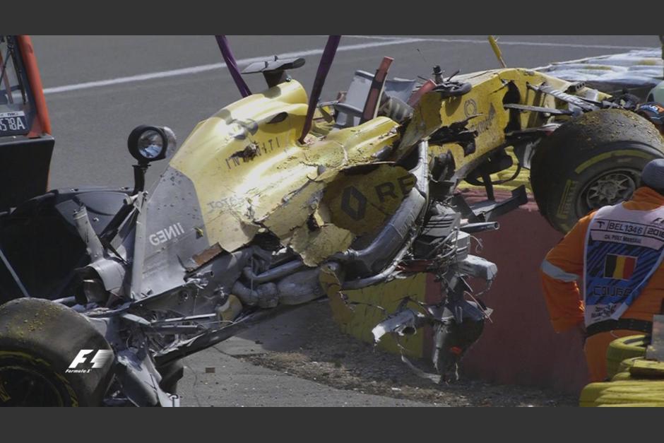 Así quedó el carro de Kevin Magnussen. (Foto: F1)