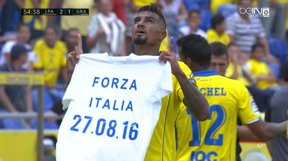 Esta es la camisa que Boateng enseñó en el estadio. (Foto: BeIn Sports España)