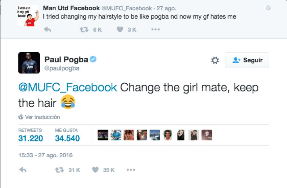 Esta fue el divertido Tweet del futbolista francés. (Imagen: Twitter)