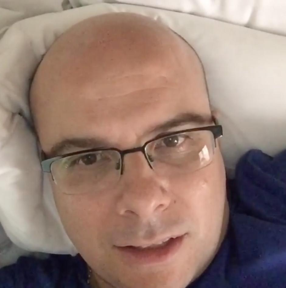 El español Alexis Martín Tamayo, Mr. Chip, envió un video de agradecimiento a sus seguidores en Guatemala. (Foto: captura de pantalla)