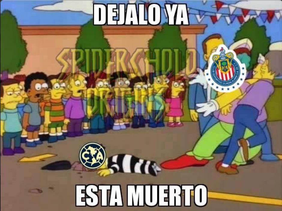 Chivas igualó a su máximo rival con 11 puntos en la tabla. (Twitter)