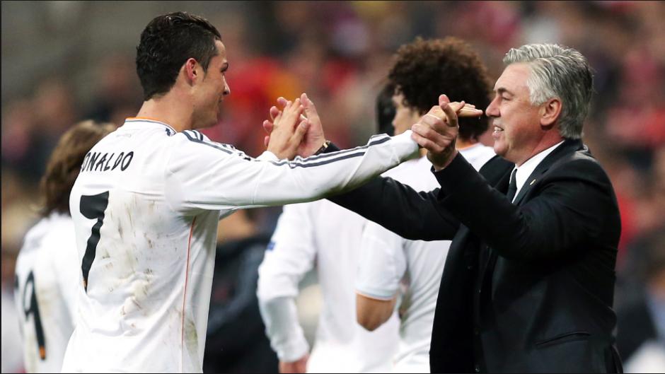 """El técnico italiano Con CR7, tras ganar """"La Décima"""". (Foto: Marca)"""