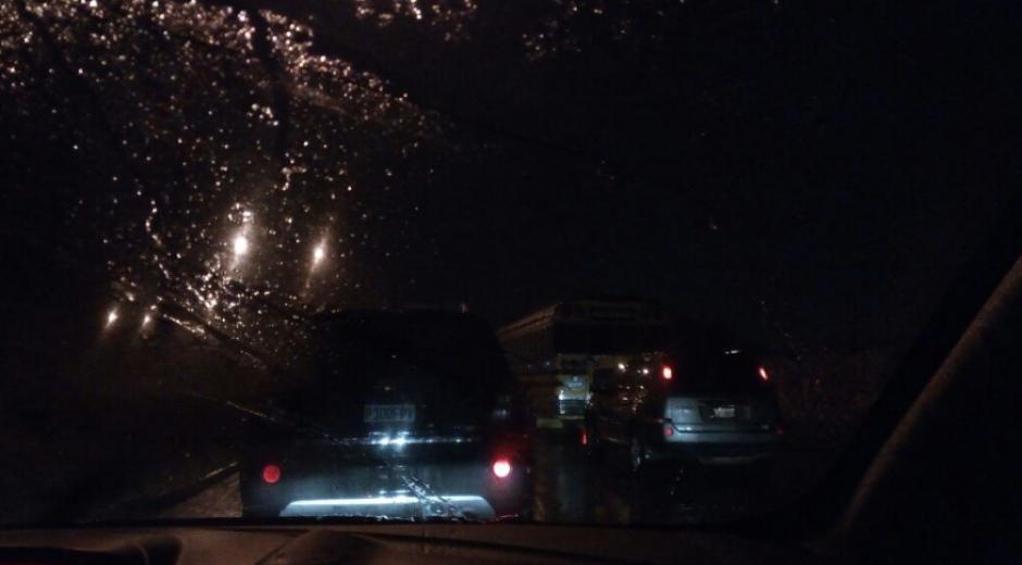 En Mixco y Villa Nueva se reportó congestionamiento. (Foto: PNC Tránsito)