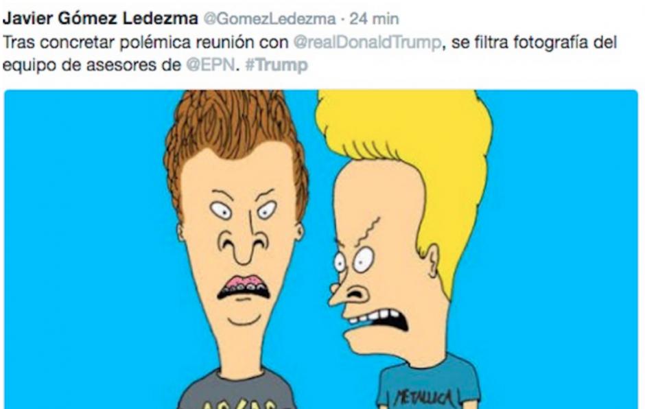 Los personajes de la tv fueron utilizados para bromear sobre Peña Nieto. (Foto: Twitter/ http://rpp.pe/)