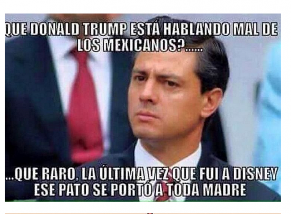 Así los usuarios mexicanos se burlaron de la visita de Donald Trump. (Foto: Twitter/ http://rpp.pe/)