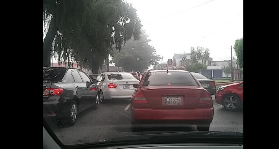 El tránsito en la capital se torna complicado en ciertas horas. (Foto: PNC Tránsito)