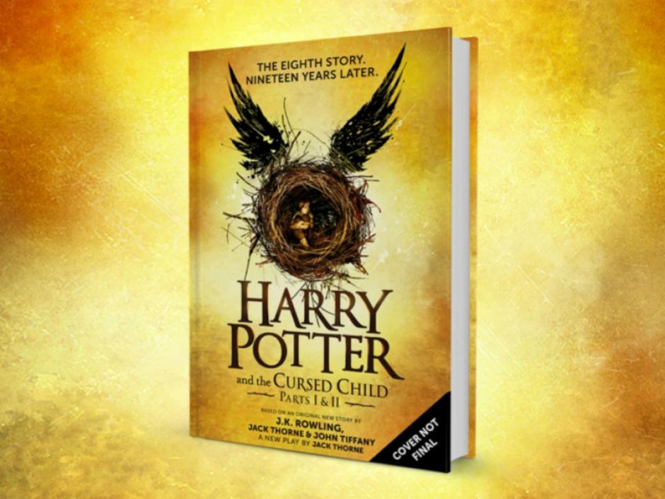 La portada del libro que cuenta la octava historia de Harry Potter. (Foto: Wikipedia)