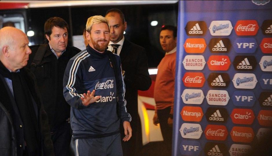 Leo Messi, a su llegada a Argentina. (Foto: Twitter)