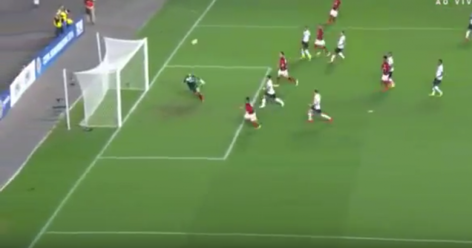 Gracias a este gol, el Flamengo avanzó en la Copa Sudamerica. (Imagen: captura de pantalla)
