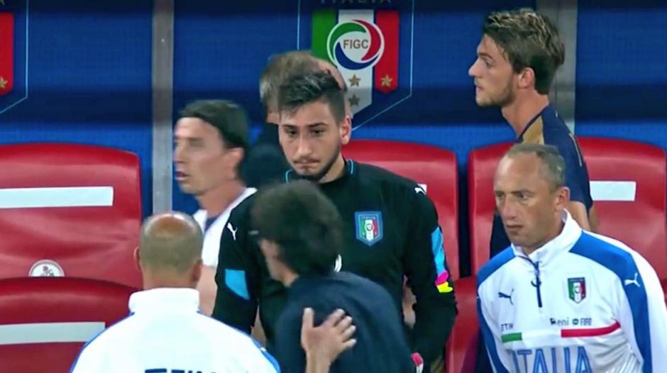 """Gigio"" sustituyó a su tocayo, Gianluigi Buffon. (Captura de Pantalla"