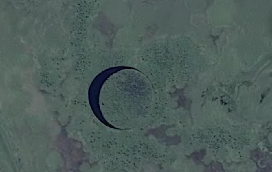 La isla es perfectamente redonda y se mueve sobre un pequeño canal. (Imagen: Captura de pantalla)