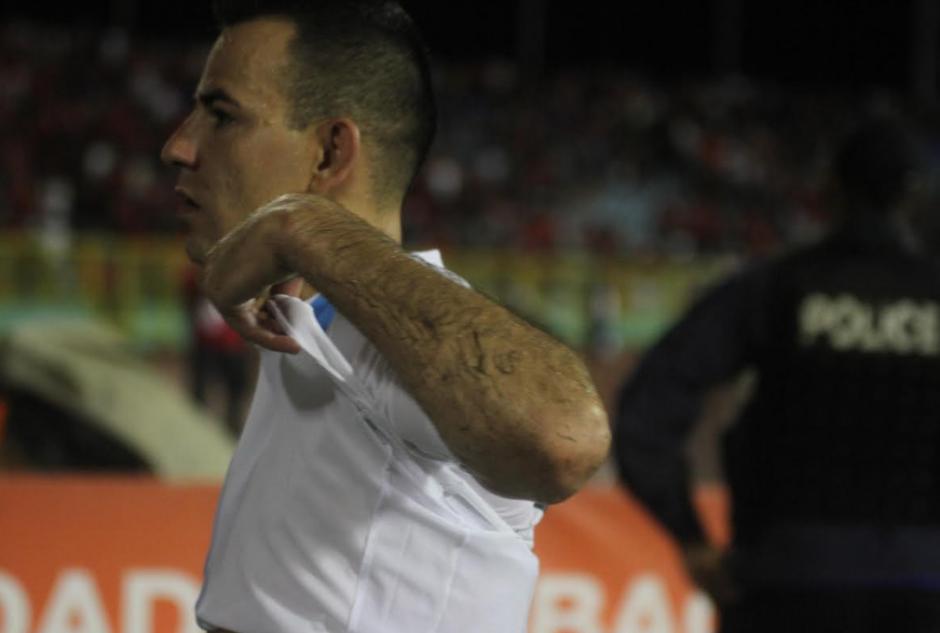Marco Pappa salió triste del partido. (Foto: Luis Barrios/Soy502)