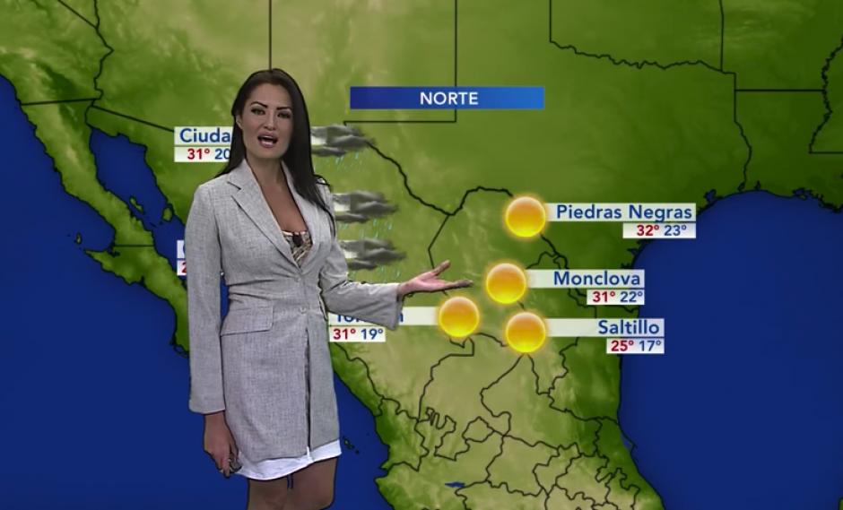 Lourdes dice que presentar el clima es una tarea complicada, pero que le apasiona. (Imagen: captura de YouTube)