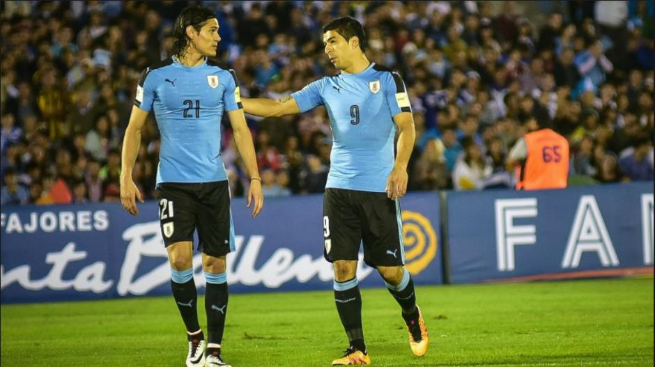 Luis Suárez y Edinson Cavani, compañeros en Uruguay. (Foto: Sport.es)