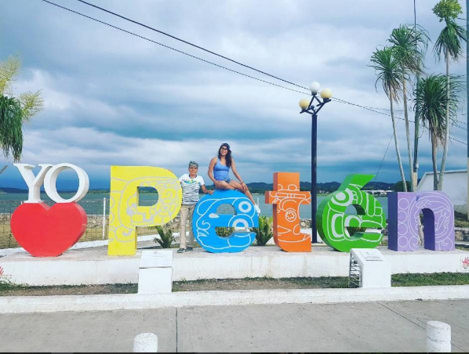 Ana Sofía también disfrutó de la isla de Flores, cabecera del departamento de Petén. (Foto: Instagram)