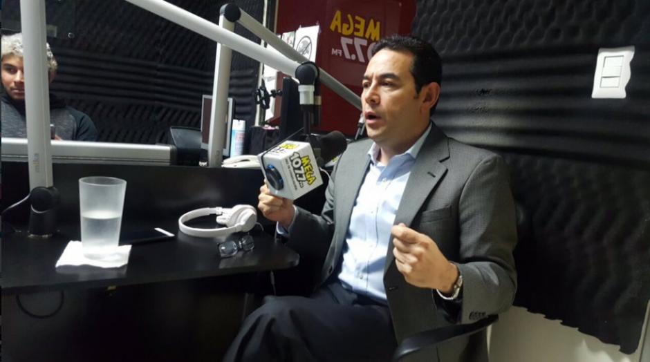 Habló de diversos temas, especialmente de los impuestos. (Foto: Gobierno de Guatemala)