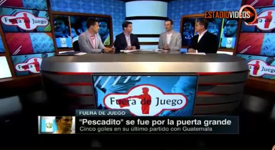 """El panel de analistas de Fuera de Juego le rindieron homenaje a Carlos """"el Pescadito"""" Ruiz. (Captura de video)"""