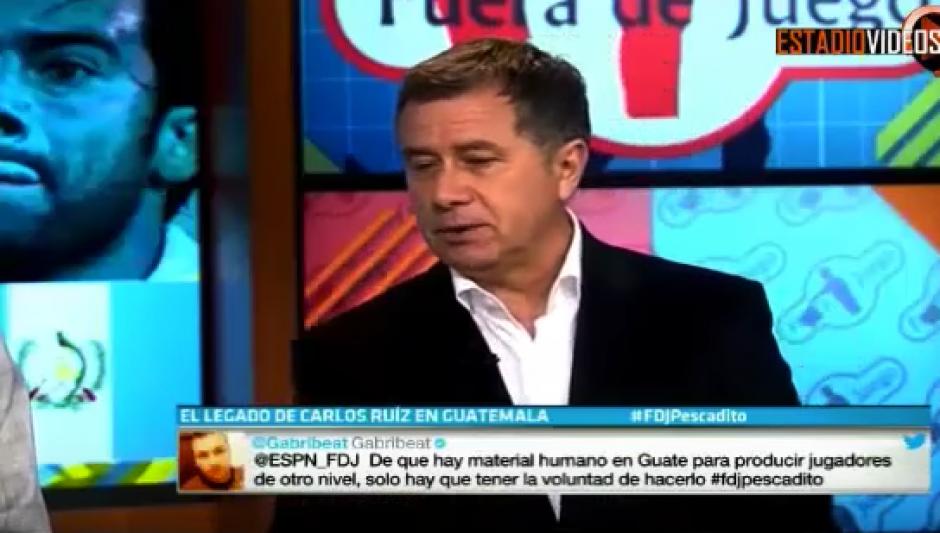 Richard Méndez dijo que lastimosamente no se le dio la importancia que se merece el récord mundial de Carlos Ruiz. (Captura de video)