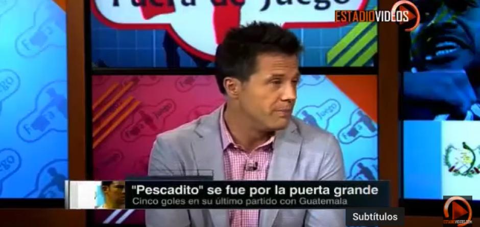 """José """"Tato"""" Noriega, exseleccionado mexicano alabó la trayectoria de Carlos Ruiz. (Captura de video)"""