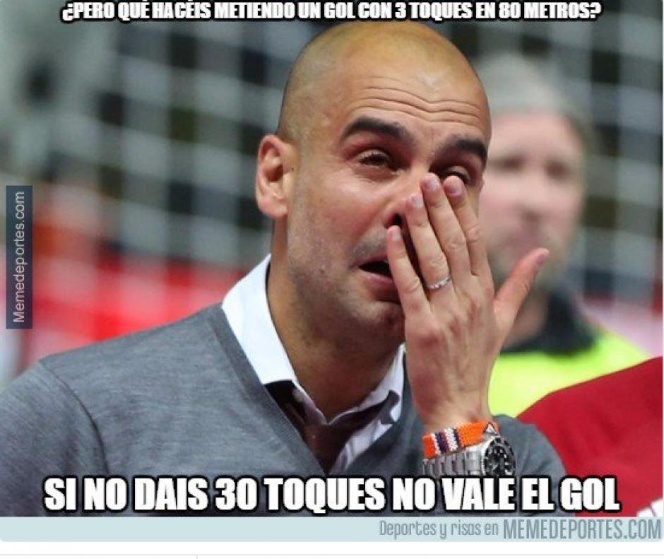Guardiola, a pesar de ganar, también fue víctima de los memes. (Foto: Twitter)
