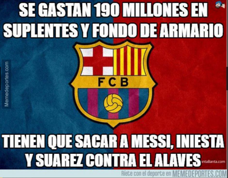 El Barcelona no pudo ganar ni con sus estrellas en el campo. (MemeDeportes)