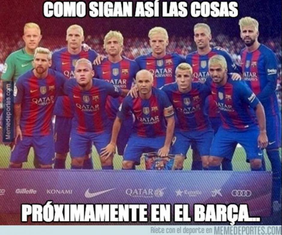 Los peinados de Messi y Neymar no pasaron desapercibidos. (MemeDeportes)