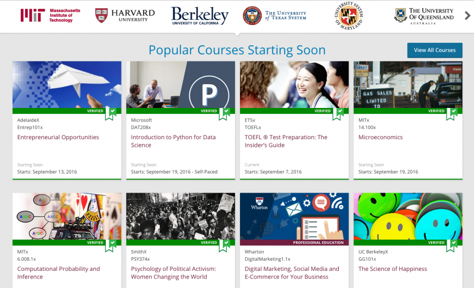 Los cursos están disponibles en distintos idiomas, además de tener un gran campo de materias por aprender. (Captura de Pantalla)